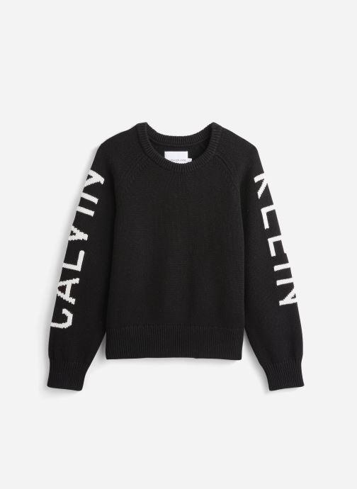 Vêtements Calvin Klein Logo Raglan Noir vue détail/paire