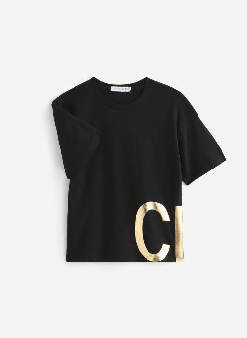 Vêtements Calvin Klein Boxy Foil Ck Ss Noir vue détail/paire