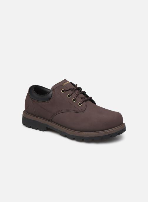 Snøresko Skechers Toric/Bereno Brun detaljeret billede af skoene