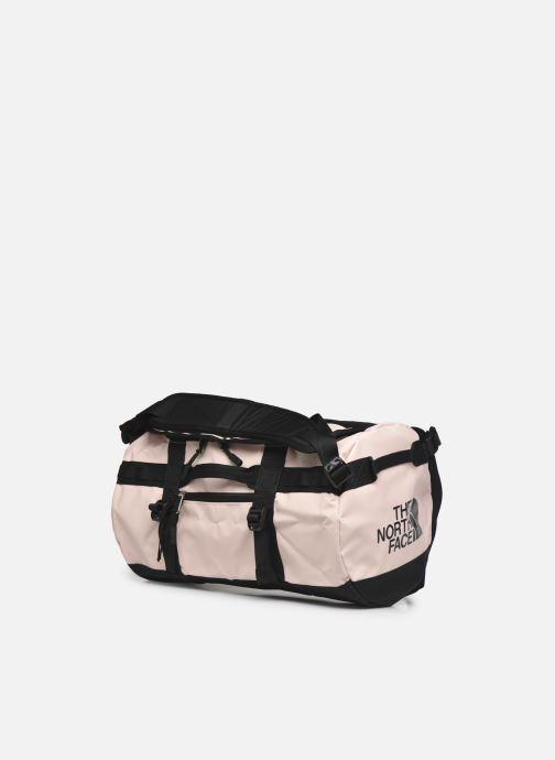 Bagagli The North Face BASE CAMP DUFFEL - XS Rosa modello indossato