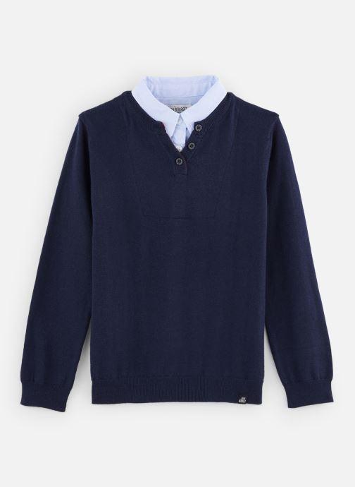 Vêtements Jean Bourget Pull JP18033 Bleu vue détail/paire