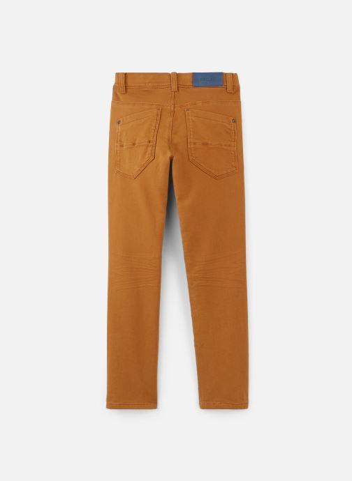Jean Bourget Pantalon droit - Pantalon Maille Bordeaux façon je (Marron) - Vêtements chez Sarenza (381909) QYR2L