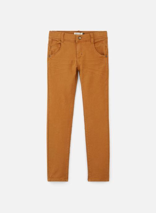 Pantalon droit - Pantalon Maille Bordeaux façon je