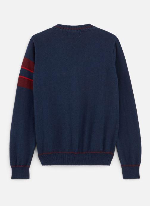 Vêtements Jean Bourget Gilet Tricot en laine Marine - Col V Bleu vue bas / vue portée sac