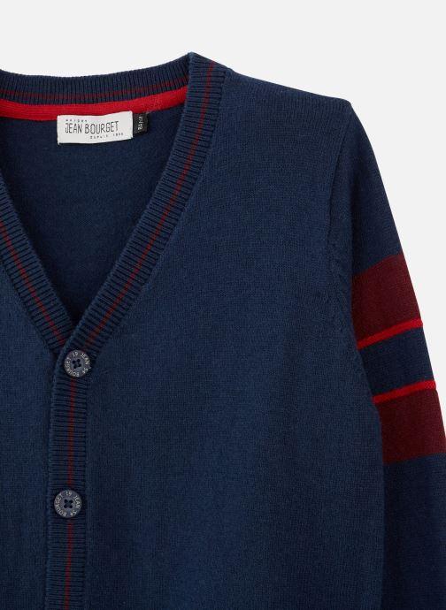 Vêtements Jean Bourget Gilet Tricot en laine Marine - Col V Bleu vue portées chaussures
