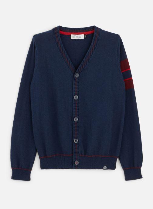 Vêtements Jean Bourget Gilet Tricot en laine Marine - Col V Bleu vue détail/paire