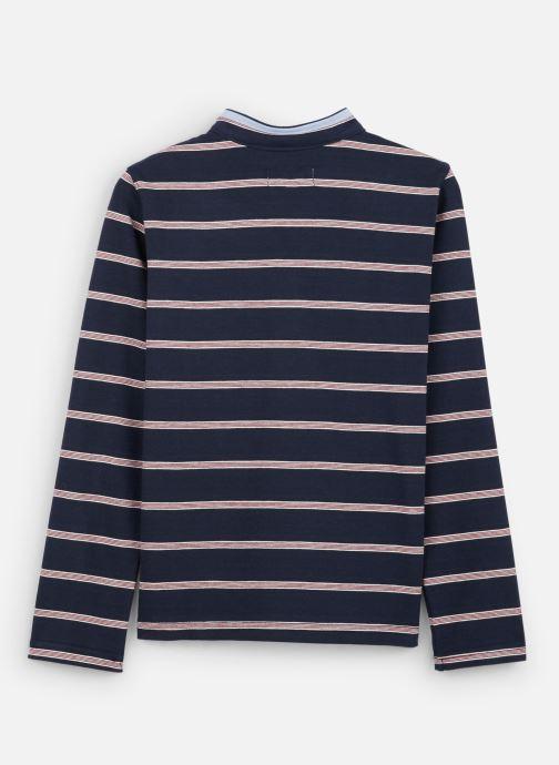 Vêtements Jean Bourget Polo Rayé en coton interlock Bleu vue bas / vue portée sac
