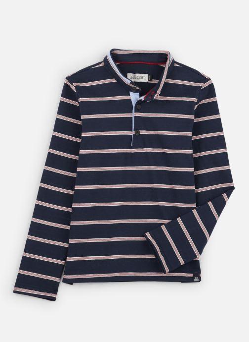 Vêtements Jean Bourget Polo Rayé en coton interlock Bleu vue détail/paire