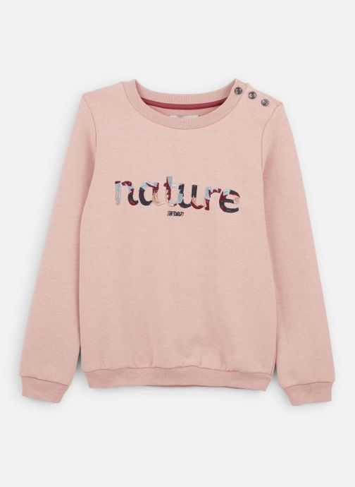 "Sweatshirt - Sweat ""Nature"" Rose Chiné - Coton néo"