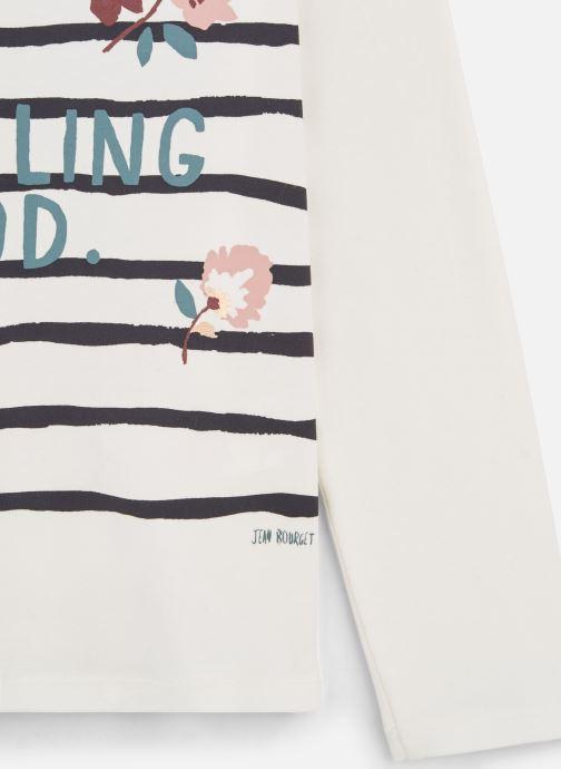 """Jean Bourget T-shirt - T-Shirt """"Feeling Good"""" Blanc à rayure (Blanc) - Vêtements chez Sarenza (381917) tGkpt - Cliquez sur l'image pour la fermer"""