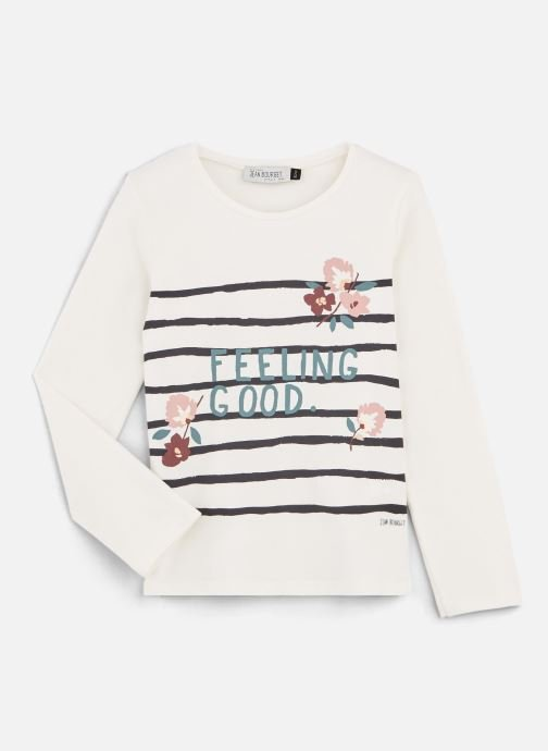 "Tøj Accessories T-Shirt ""Feeling Good"" Blanc à rayure"
