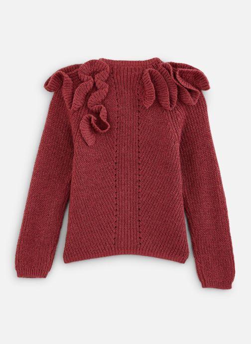 Vêtements Jean Bourget Cardigan Tricot en mohair Céladon - Col à volants Rouge vue bas / vue portée sac