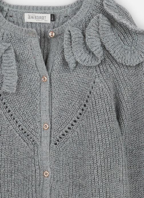 Jean Bourget Gilet - Cardigan Tricot en mohair Céladon - Col à (Gris) - Vêtements chez Sarenza (381928) PTCRD