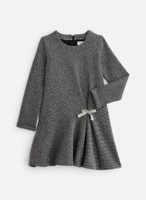 Robe maille gris ardoise - Jupe volantée