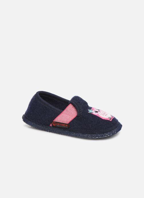 Hjemmesko Giesswein Troisdorf Blå detaljeret billede af skoene