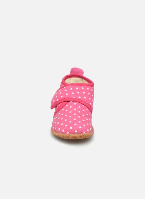 Pantoffels Giesswein Stans - Slim Fit Roze model