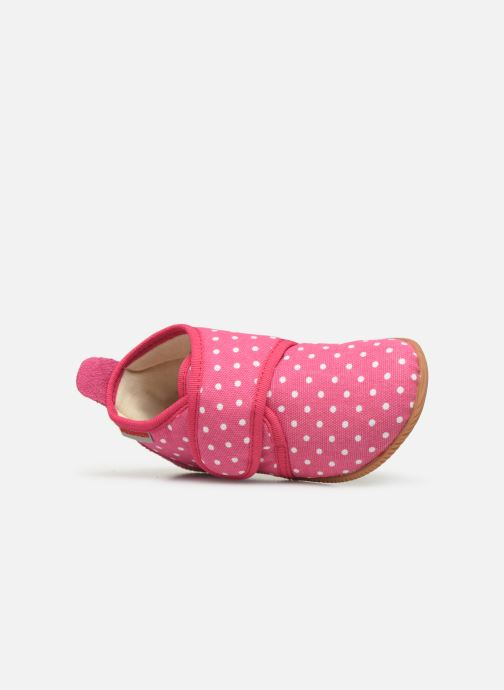 Pantofole Giesswein Stans - Slim Fit Rosa immagine sinistra