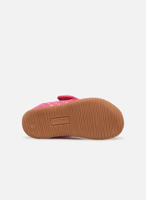 Pantofole Giesswein Stans - Slim Fit Rosa immagine dall'alto