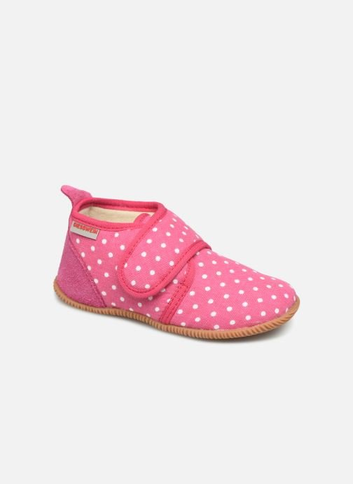 Pantoffels Giesswein Stans - Slim Fit Roze detail