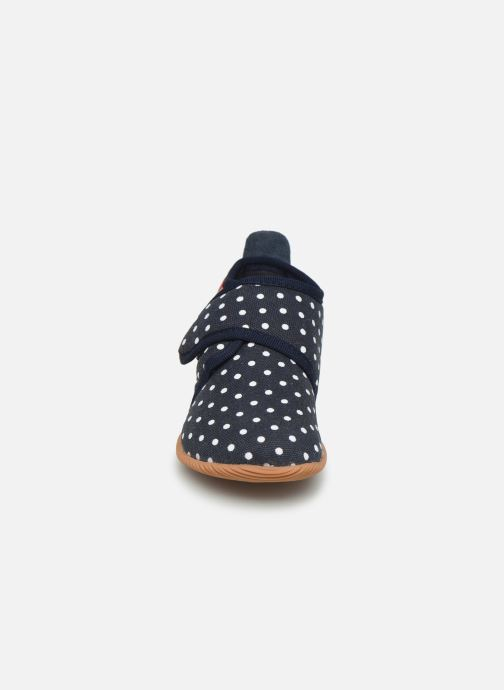 Pantofole Giesswein Stans - Slim Fit Azzurro modello indossato