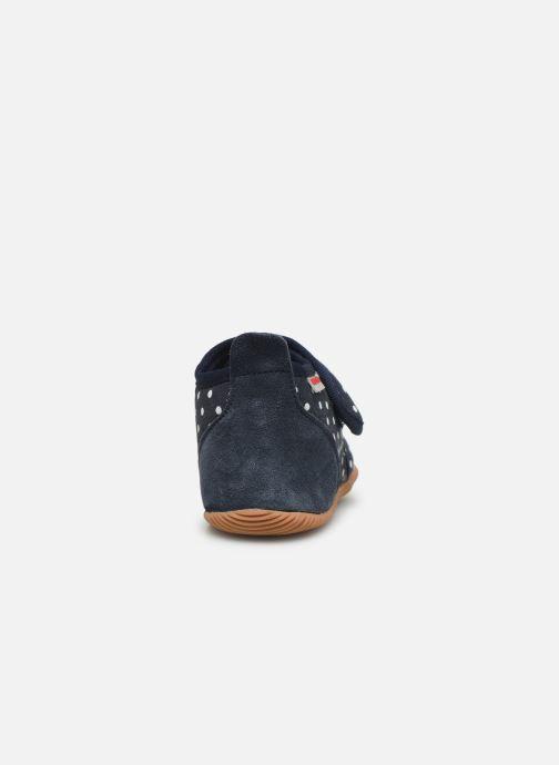 Pantuflas Giesswein Stans - Slim Fit Azul vista lateral derecha