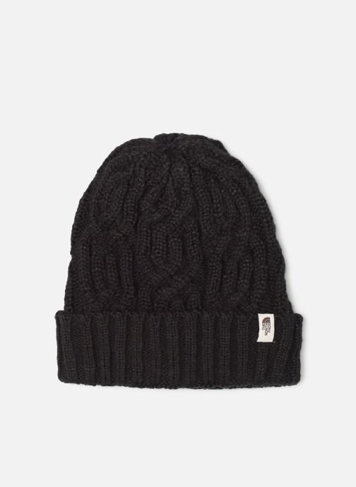 Muts The North Face Cable Minna Beanie Zwart detail