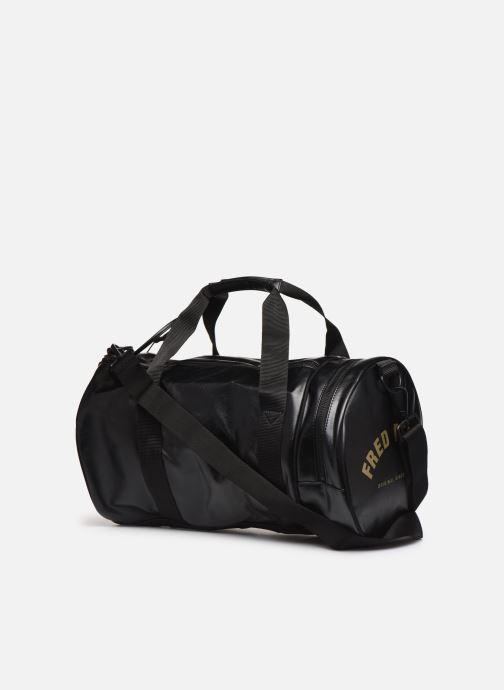 Sacs de sport Fred Perry Tonal Barrel Bag Noir vue droite