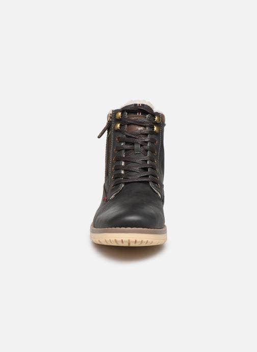 Bottes Mustang shoes Mirtle Gris vue portées chaussures