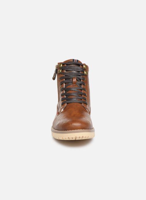 Bottes Mustang shoes Mirtle Marron vue portées chaussures