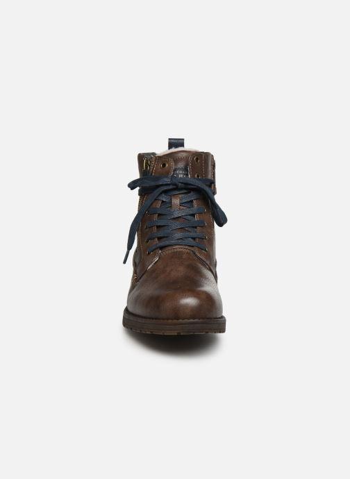 Bottines et boots Mustang shoes Valery Marron vue portées chaussures