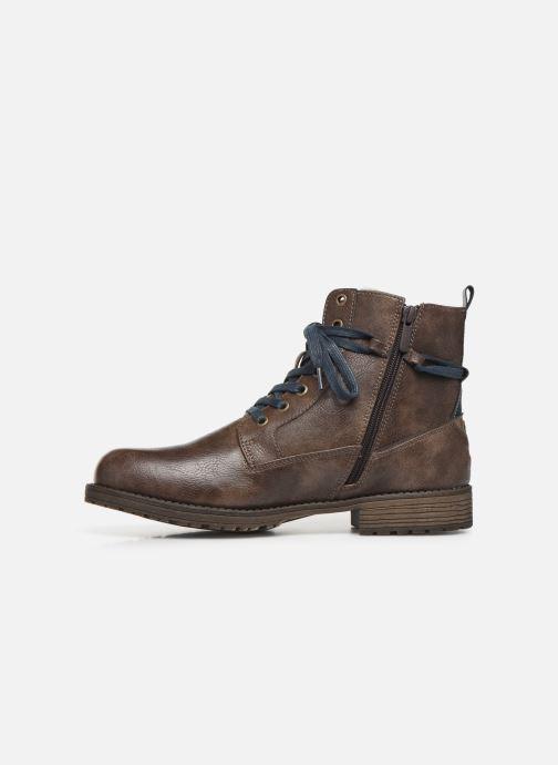 Bottines et boots Mustang shoes Valery Marron vue face