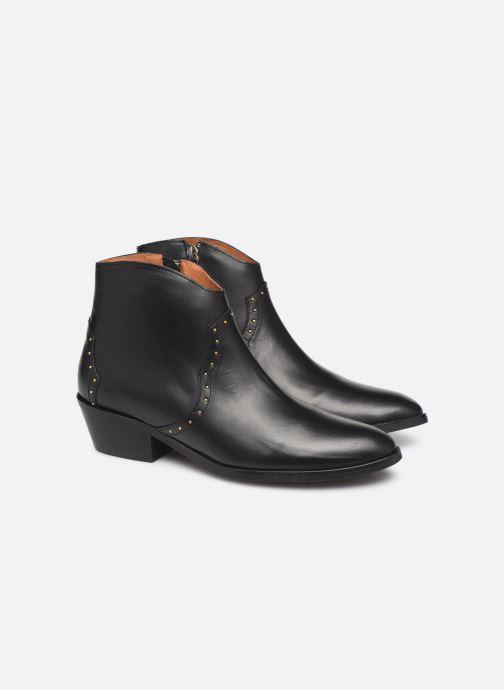 Bottines et boots Anonymous Copenhagen FIONA 35 STUDS Noir vue 3/4