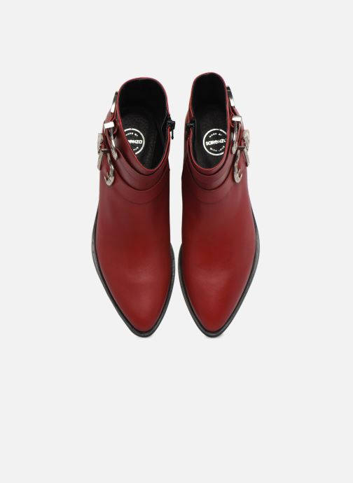 Bottines et boots Made by SARENZA Soft Folk Boots #1 Rouge vue portées chaussures