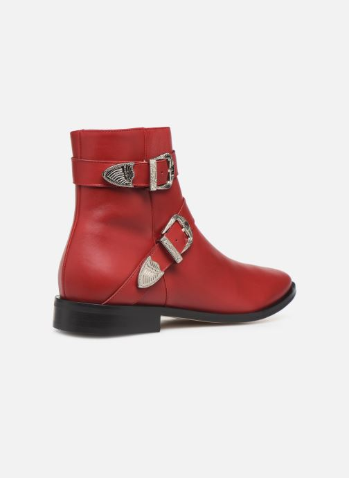 Ankle boots Made by SARENZA Soft Folk Boots #1 Red front view