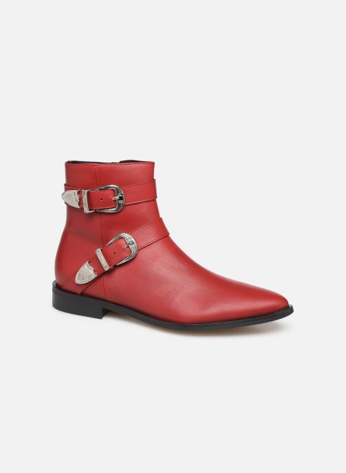 Ankle boots Made by SARENZA Soft Folk Boots #1 Red view from the right