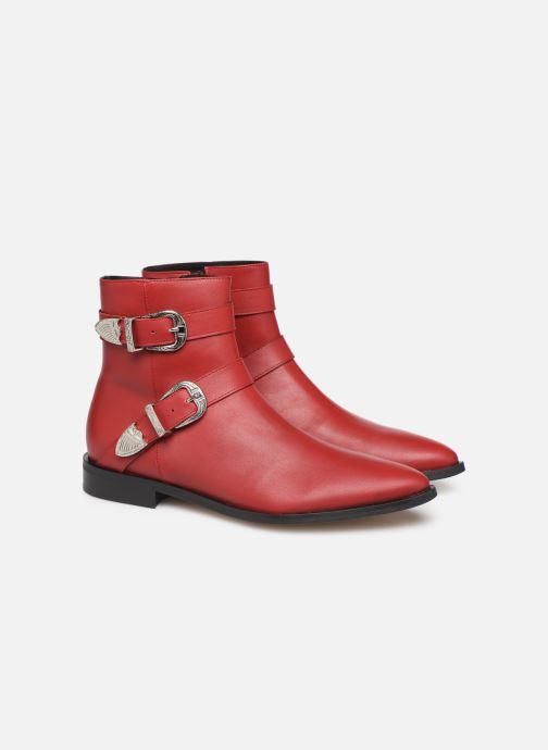Botines  Made by SARENZA Soft Folk Boots #1 Rojo vistra trasera