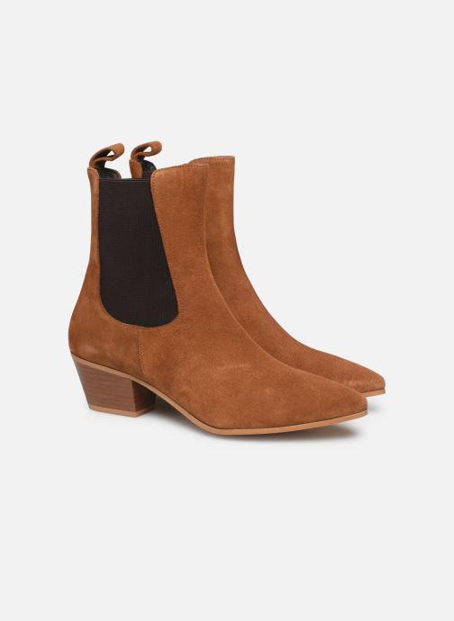 Botines  Made by SARENZA Soft Folk Boots #5 Marrón vistra trasera