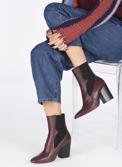 Ankle boots Made by SARENZA Soft Folk Boots #7 Burgundy view from underneath / model view