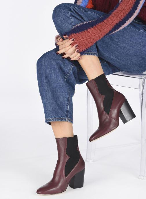 Bottines et boots Made by SARENZA Soft Folk Boots #7 Bordeaux vue bas / vue portée sac
