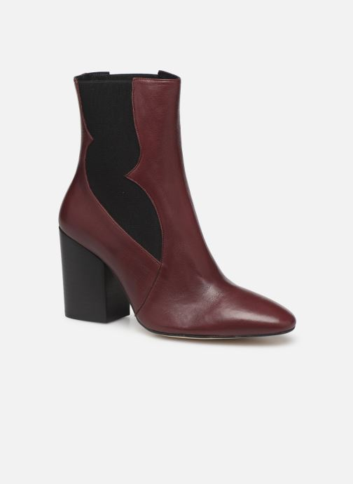 Ankle boots Made by SARENZA Soft Folk Boots #7 Burgundy view from the right