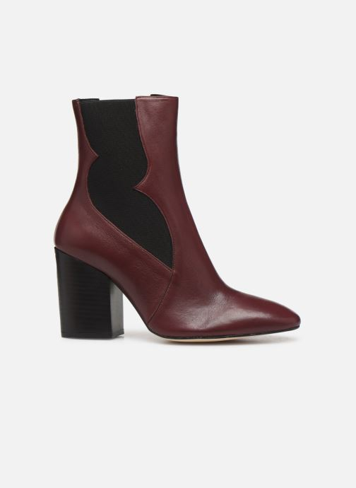 Ankle boots Made by SARENZA Soft Folk Boots #7 Burgundy detailed view/ Pair view