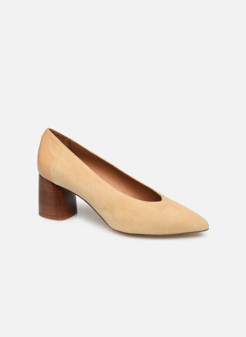 Zapatos de tacón Made by SARENZA Soft Folk Escarpin #5 Beige vista lateral derecha