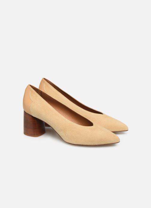 Zapatos de tacón Made by SARENZA Soft Folk Escarpin #5 Beige vistra trasera