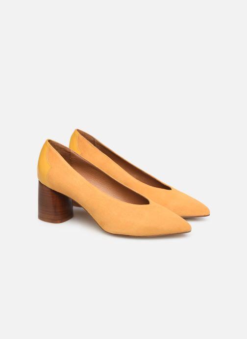 Zapatos de tacón Made by SARENZA Soft Folk Escarpin #5 Amarillo vistra trasera