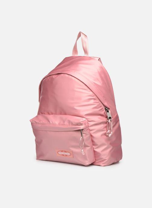 Zaini Eastpak PADDED PACK'R SATINSFACTION Rosa modello indossato