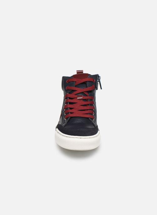 Baskets I Love Shoes SOL LEATHER Bleu vue portées chaussures