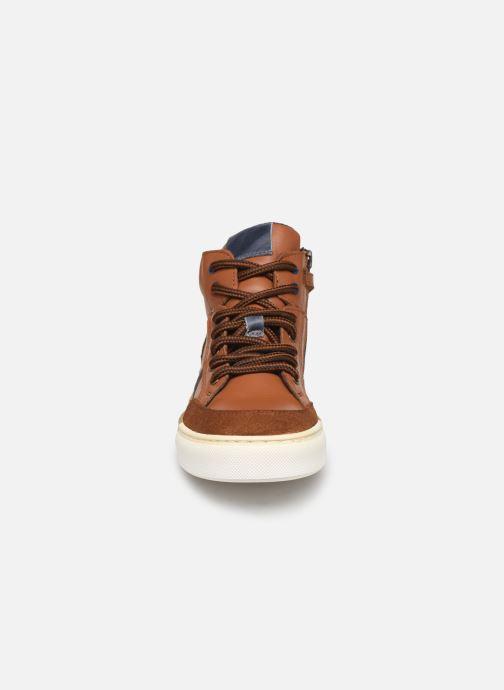 Baskets I Love Shoes SOL LEATHER Marron vue portées chaussures