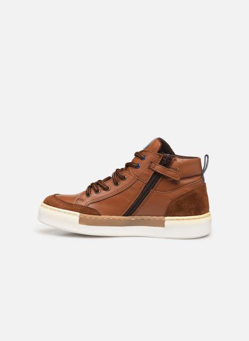 Baskets I Love Shoes SOL LEATHER Marron vue face
