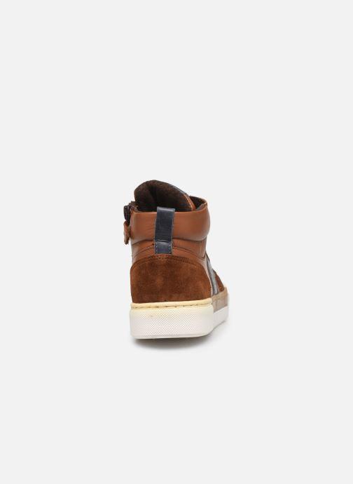 Baskets I Love Shoes SOL LEATHER Marron vue droite