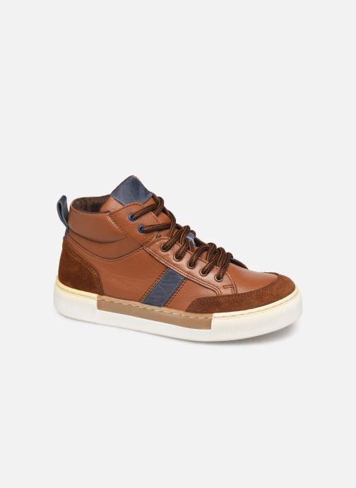 Baskets I Love Shoes SOL LEATHER Marron vue détail/paire